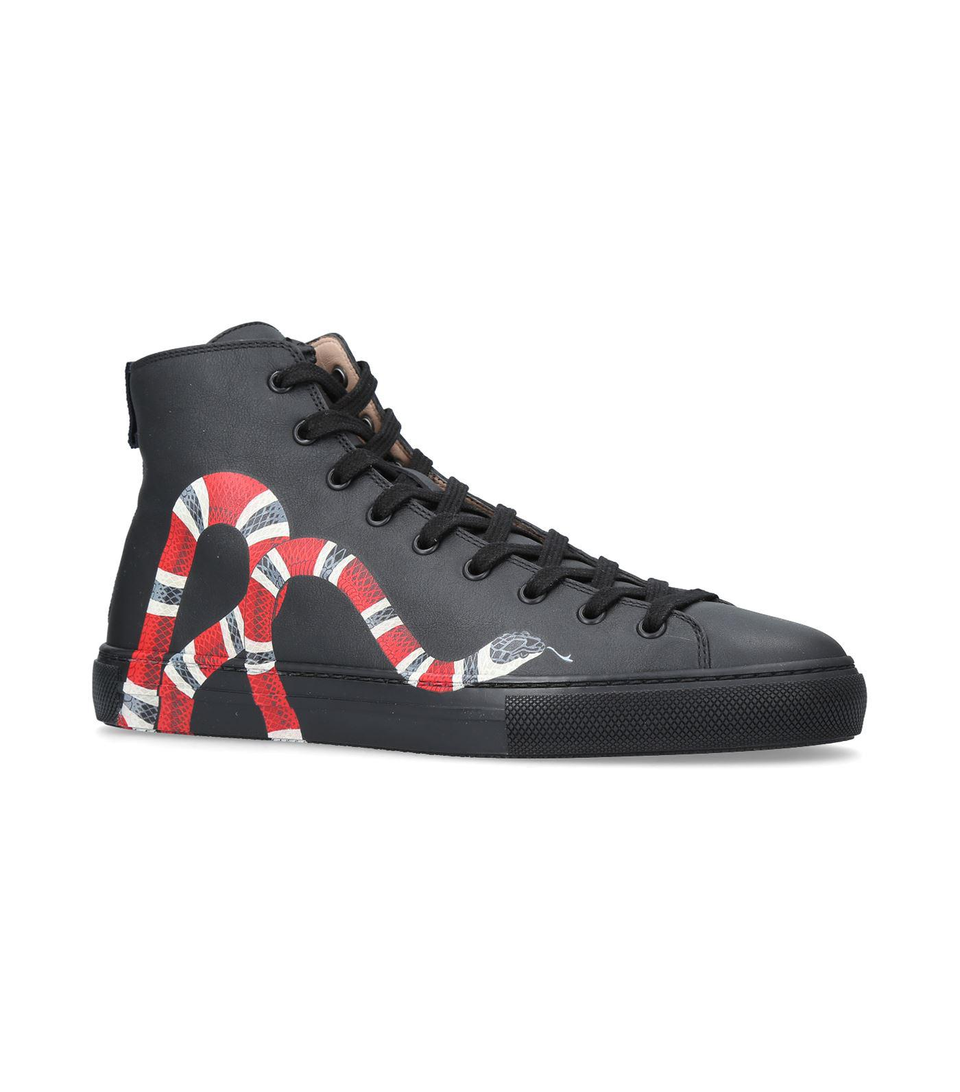 Gucci Leather Major Snake High-tops in