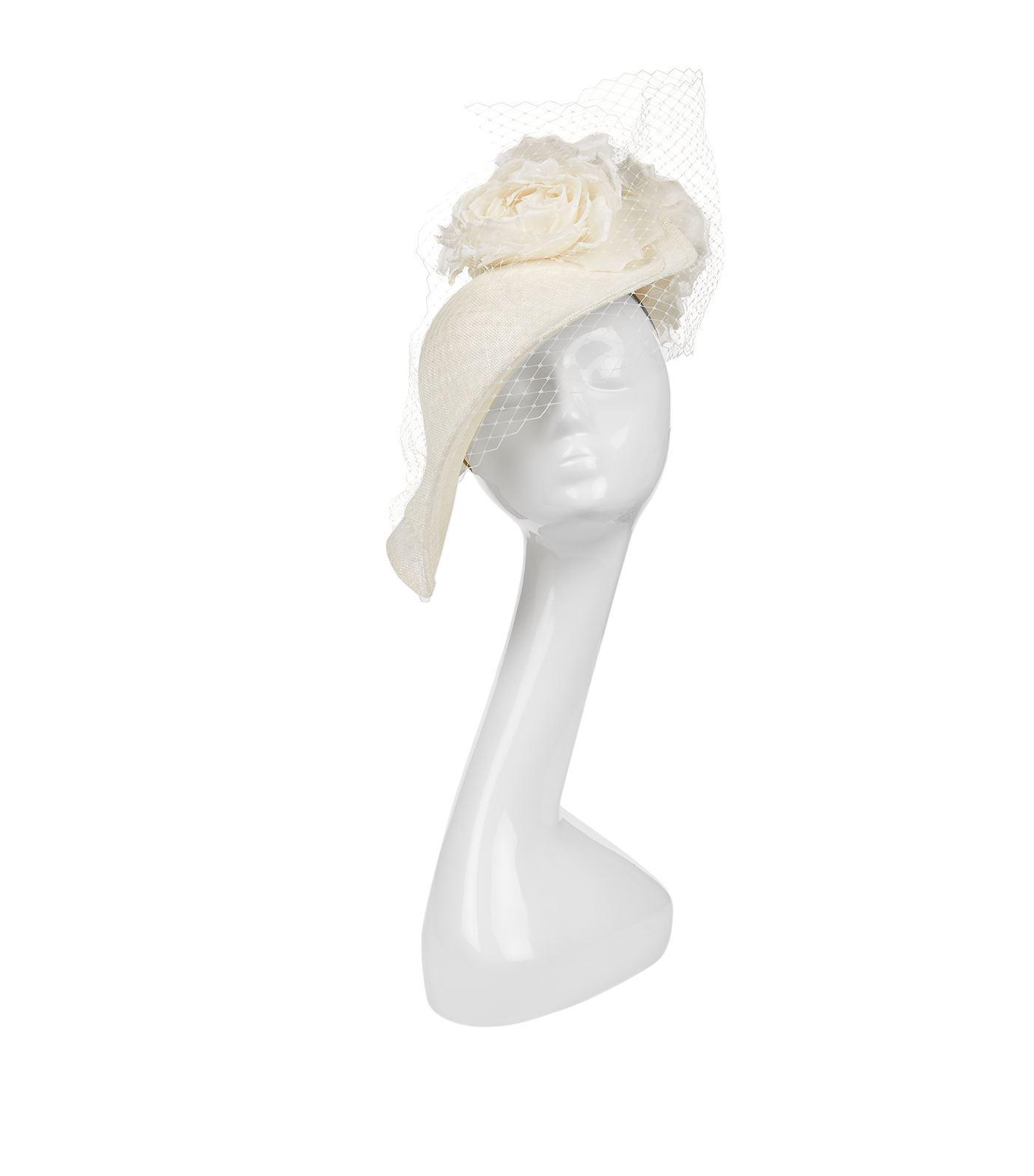 Lyst - Philip Treacy Floral Mesh Asymmetric Headpiece 87c39487a05