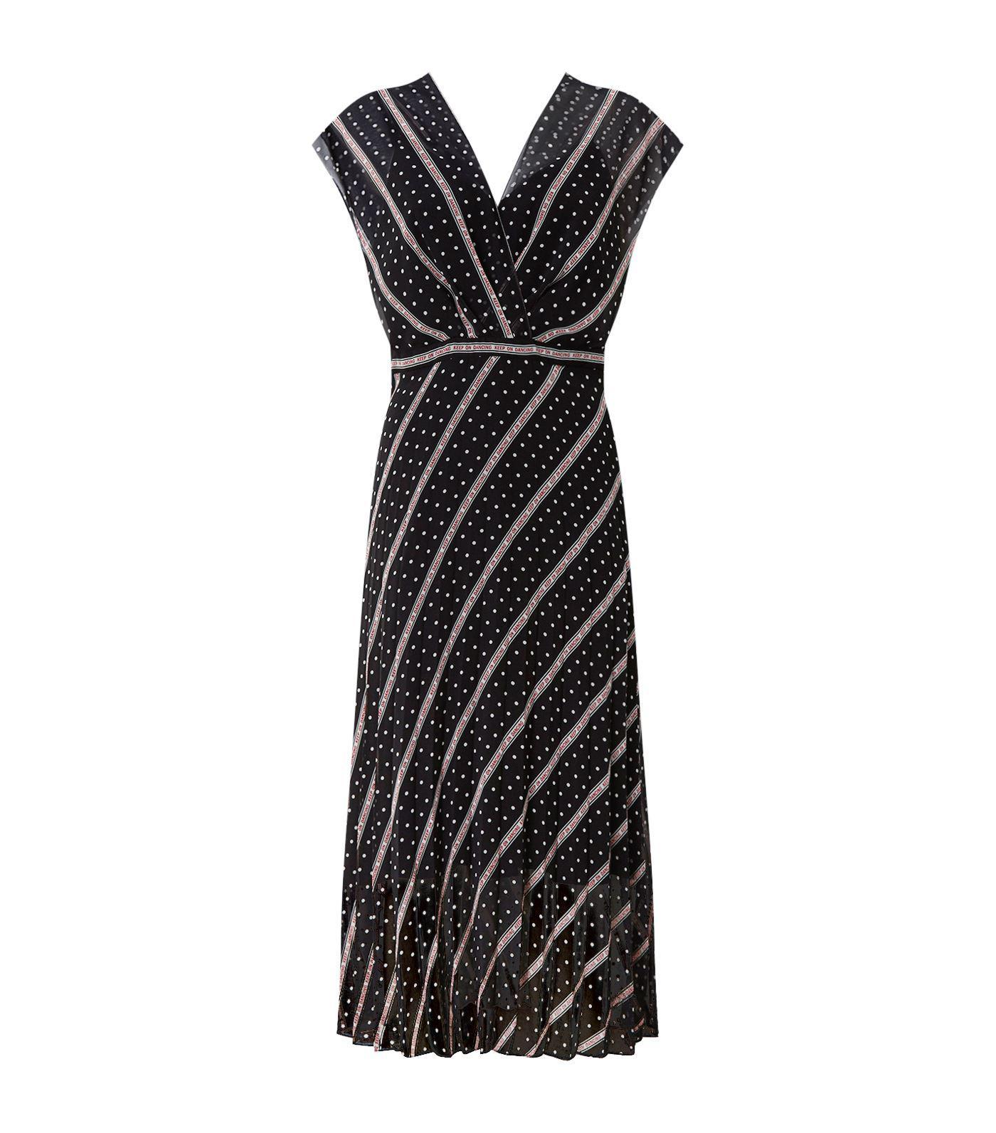 66747f5eeb5 Sandro Keep On Dancing Dress in Black - Lyst