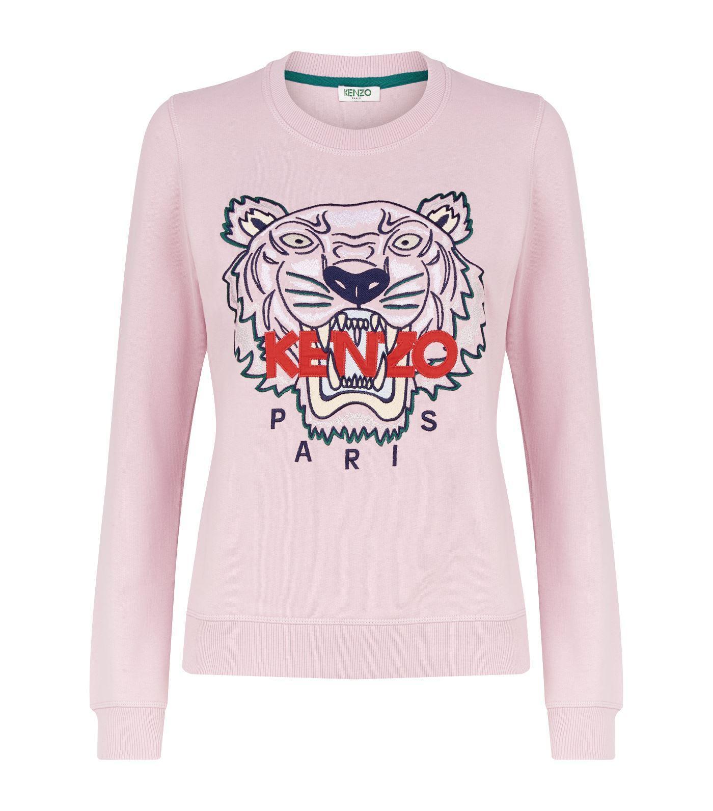 6c7310c0f3b KENZO - Pink Icon Tiger Sweatshirt - Lyst. View fullscreen