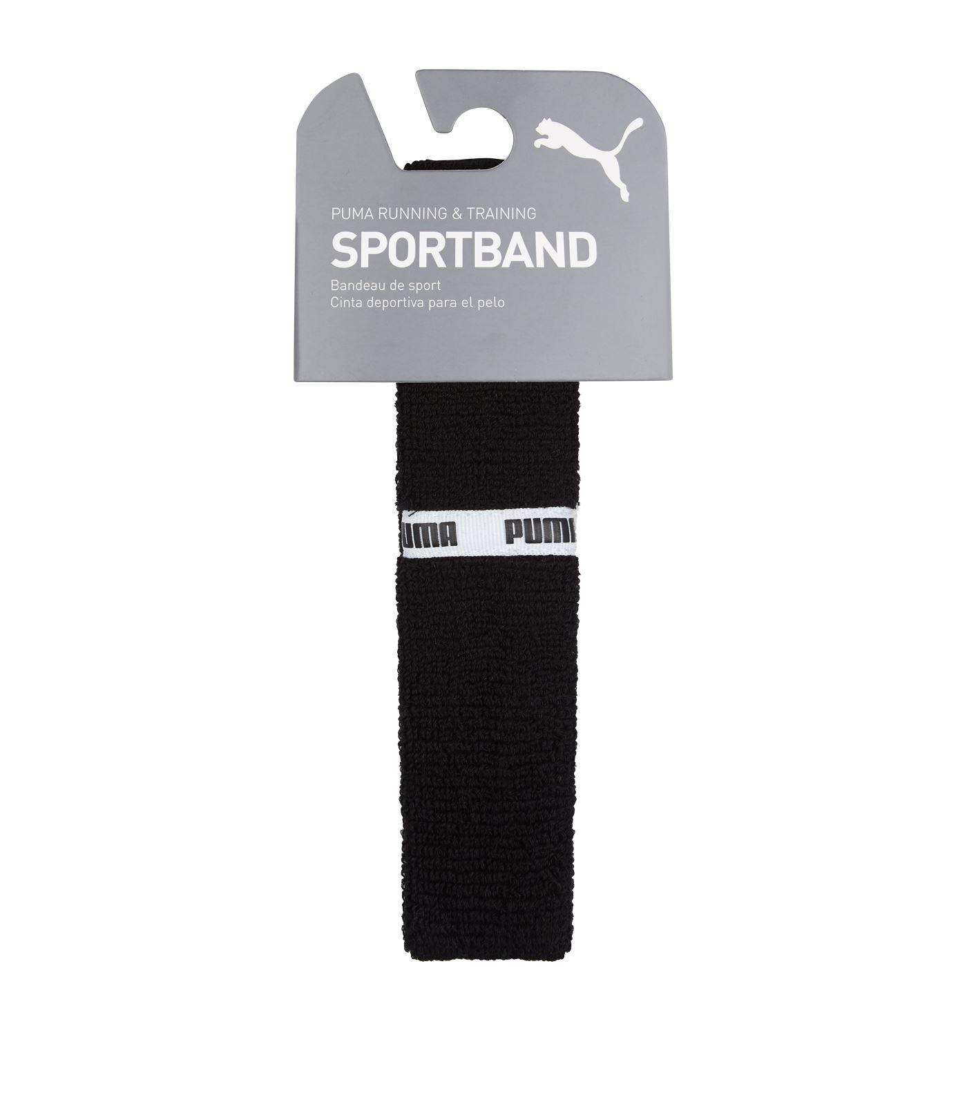 PUMA Cotton Logo Trim Sports Headband in Black - Lyst