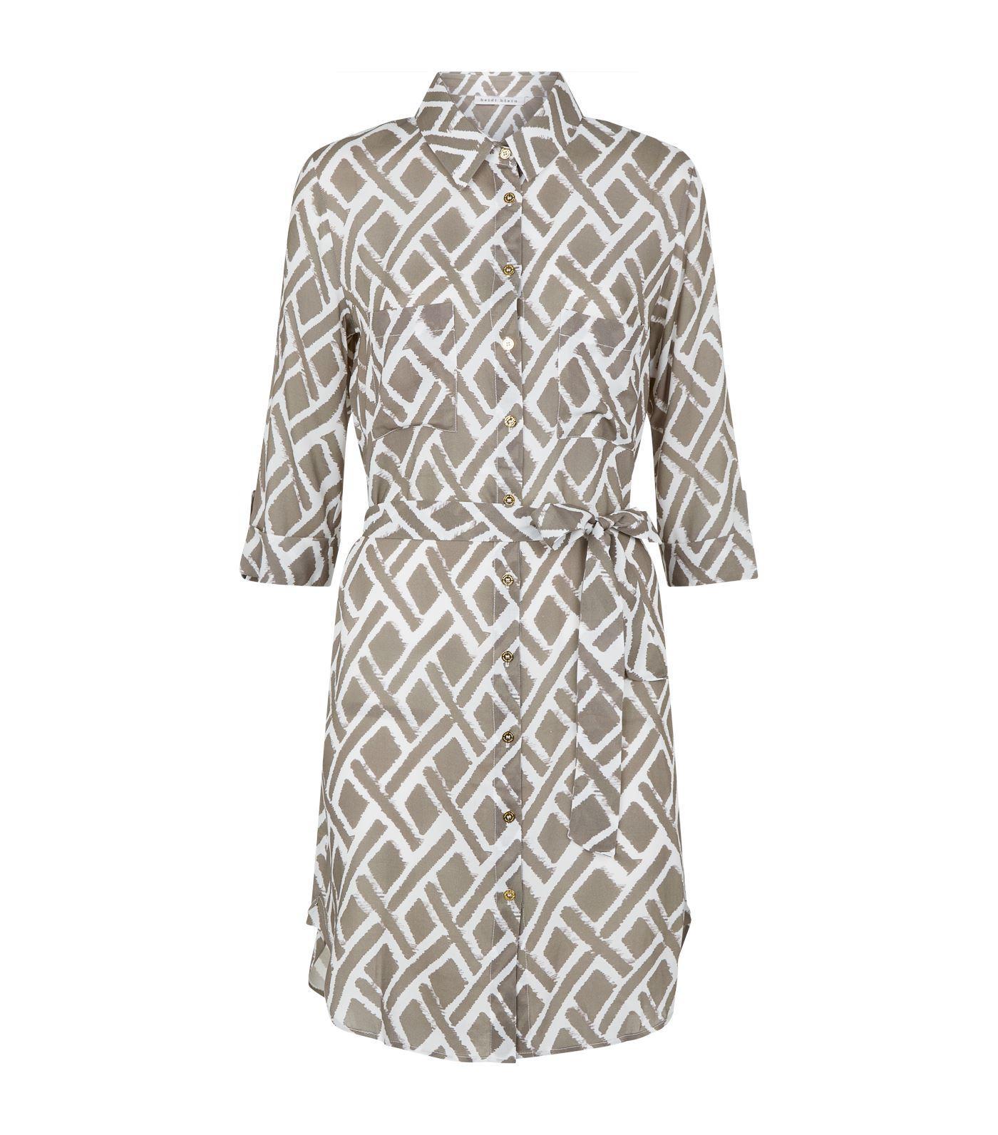 60925a44fb Heidi Klein Cote D'azur Relaxed Shirt Dress in Gray - Lyst