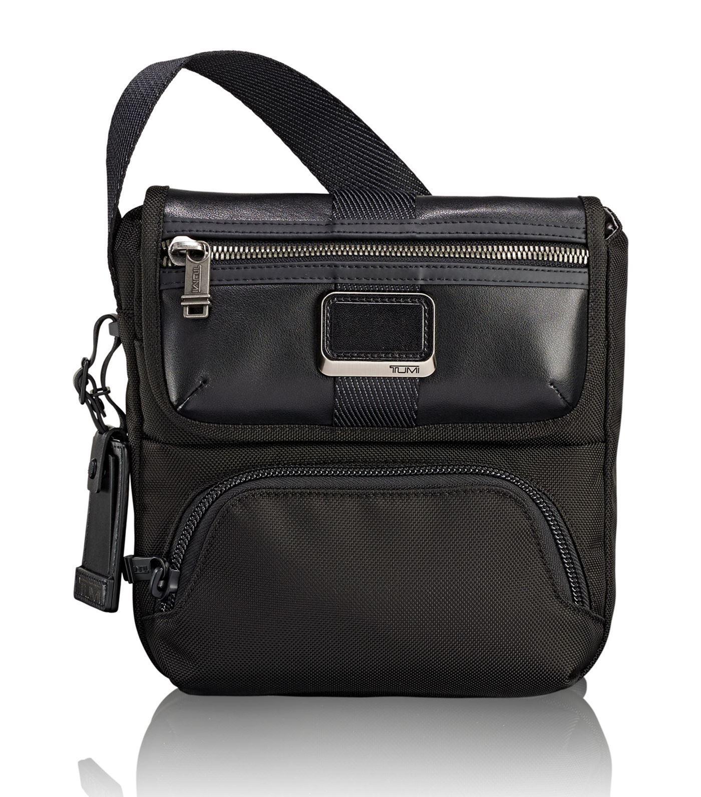 Tumi Synthetic Alpha Bravo Barton Crossbody Bag in Black for Men