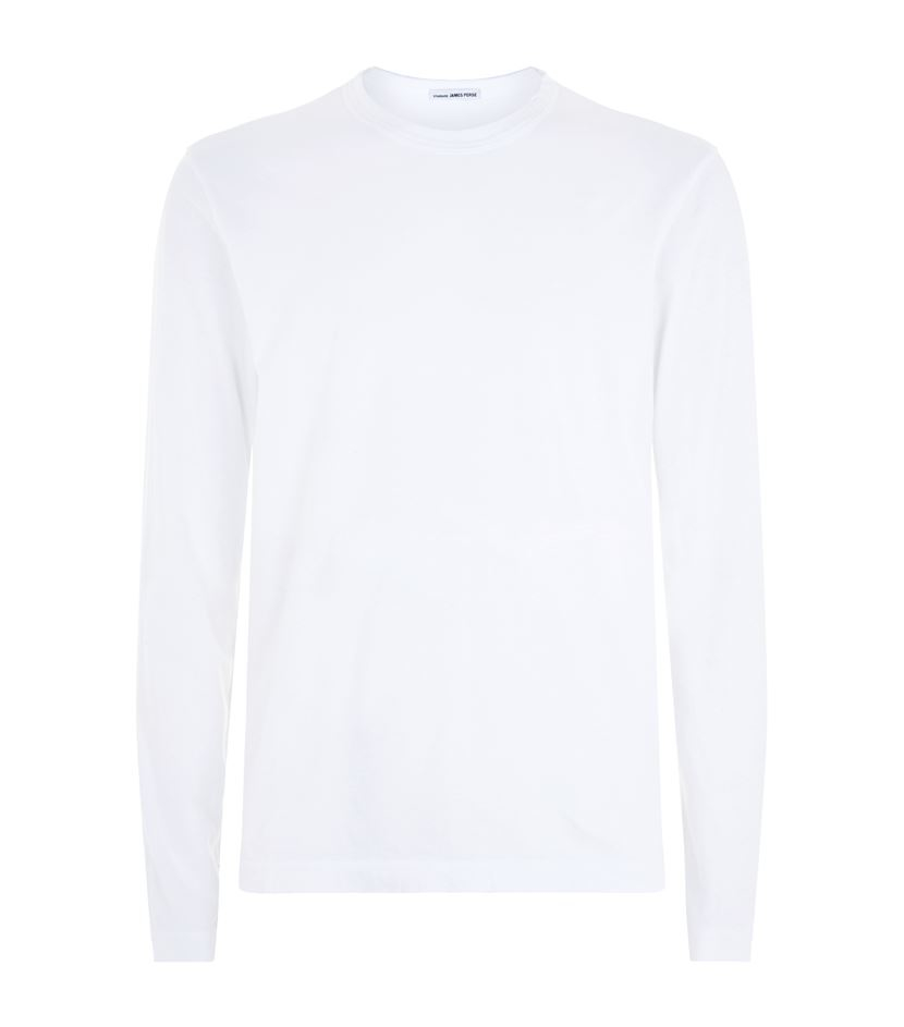 James perse long sleeve t shirt in white for men lyst for James perse t shirts sale