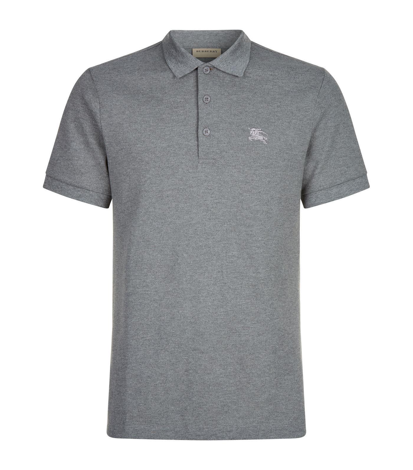c9d5f2e4 Burberry Brit Mens Black Cotton Nova Check Placket Polo Shirt – EDGE ...