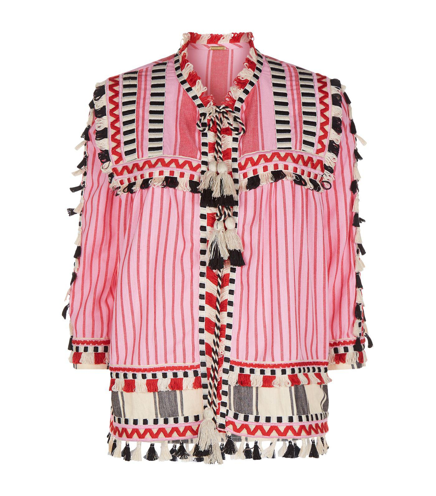Dodo Bar Or Jacket.Dodo Bar Or Pink Marcus Tassel Jacket