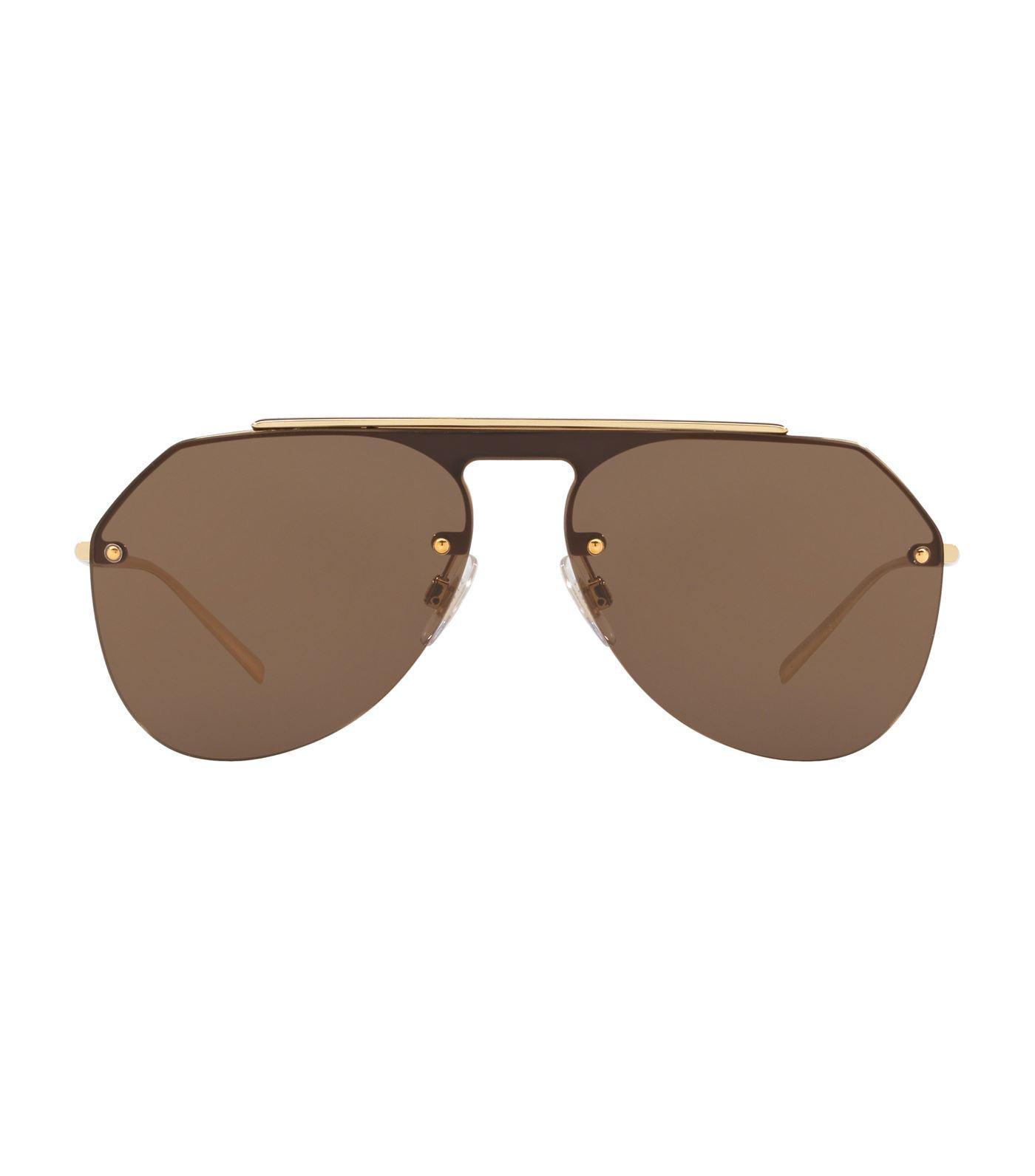 7827293511d5 Lyst - Dolce   Gabbana Pilot Sunglasses in Metallic for Men