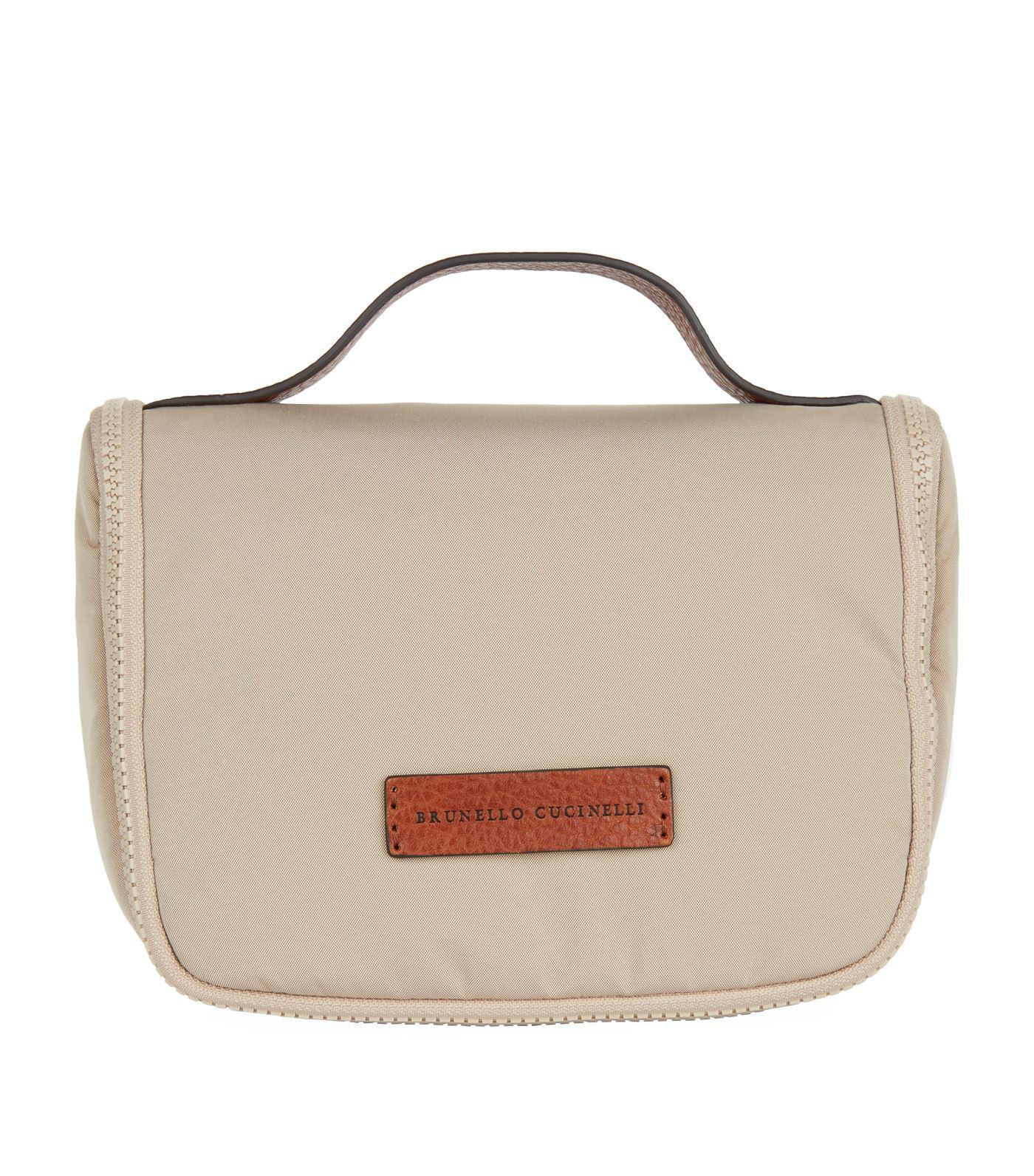 508cab4d2de7 Brunello Cucinelli - Natural Travel Wash Bag for Men - Lyst. View fullscreen