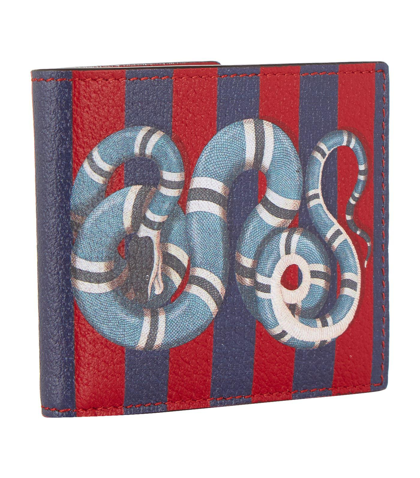 f51c4bc7cb41ba Gucci King Snake Bifold Wallet, Red, One Size in Red for Men - Lyst