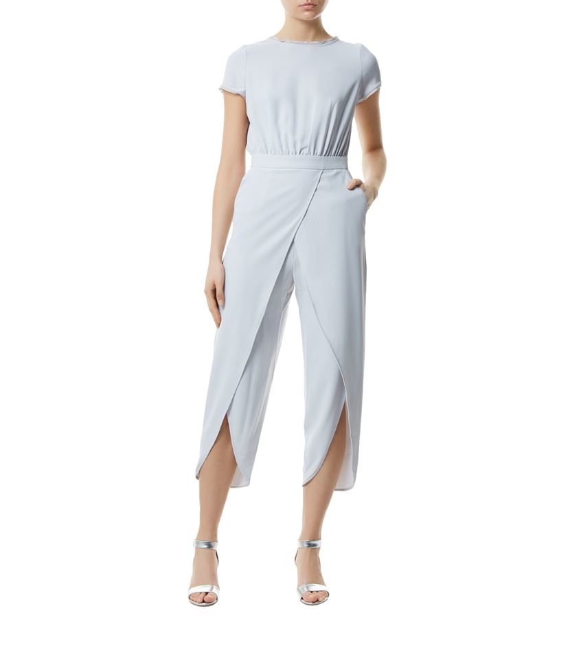 83db98a3a65 Reiss Florence Culottes Jumpsuit in White - Lyst