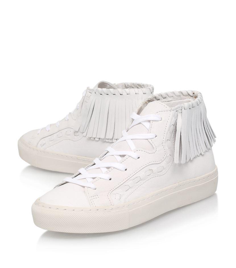 KG by Kurt Geiger Leather Lakes Tasseled Sneakers in White