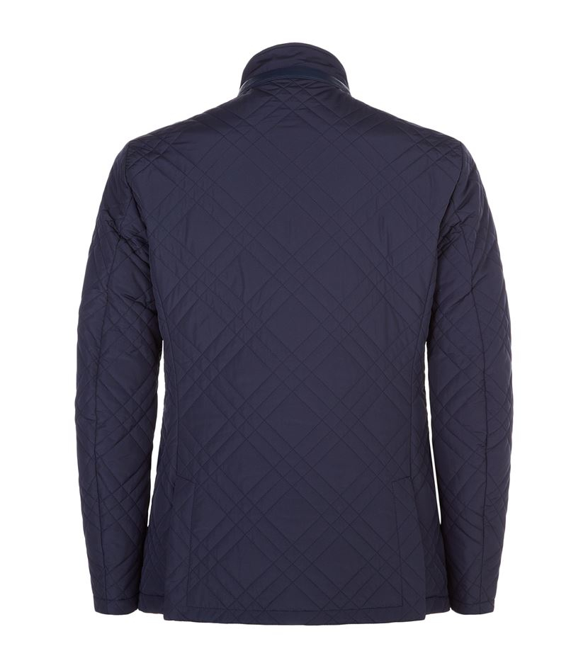 Quilted Blazers: Pal Zileri Quilted Blazer Jacket In Blue For Men