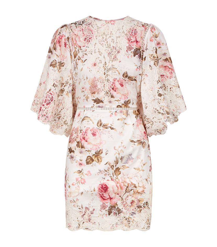 Zimmermann eden embroidered dress in pink save lyst