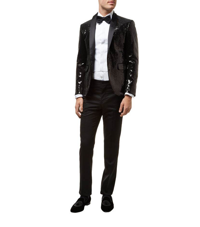 DSquared² Silk Sequined Jacket in Black for Men