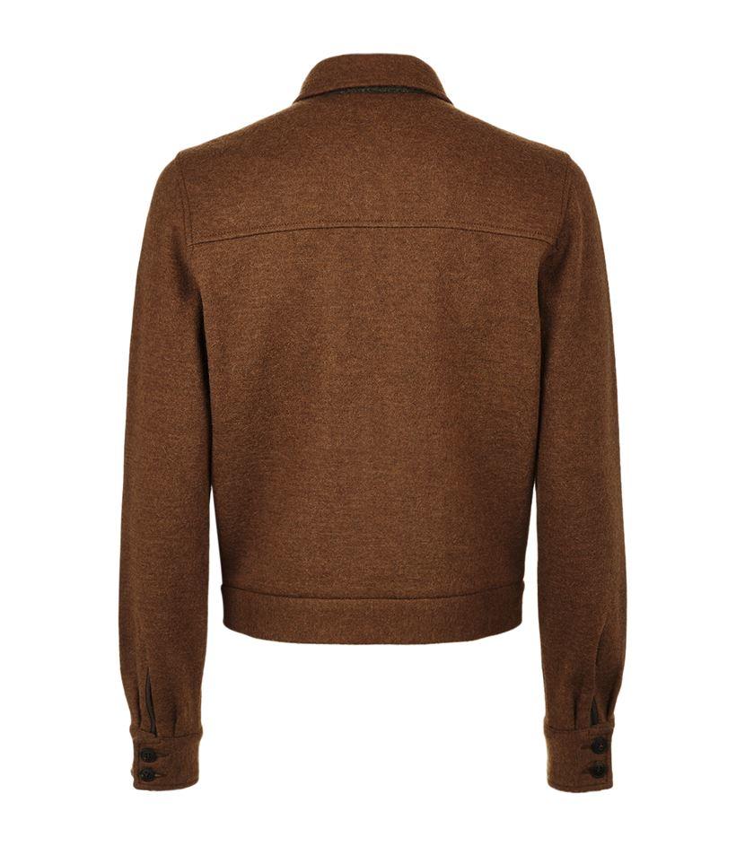 Boglioli Alpaca-wool Zip-up Jacket in Brown for Men