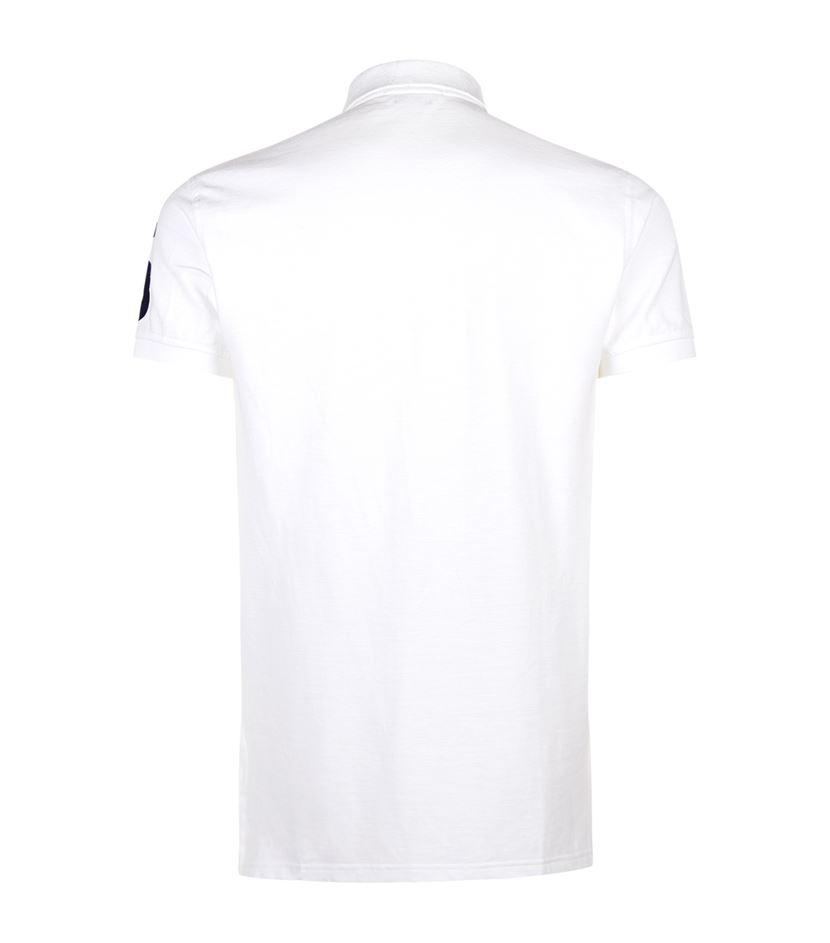 Lyst polo ralph lauren yacht club polo shirt in white for Ralph lauren polo club shirts
