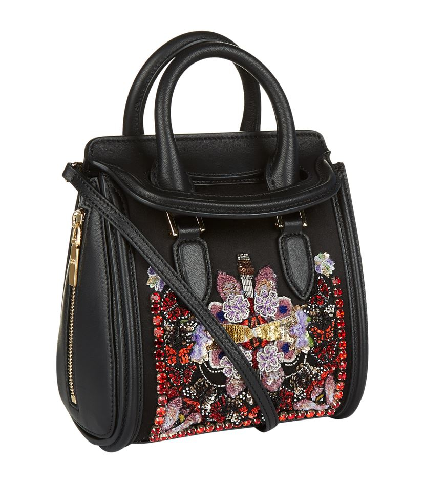 Alexander mcqueen Mini Heroine Silk Embellished Bag in ...