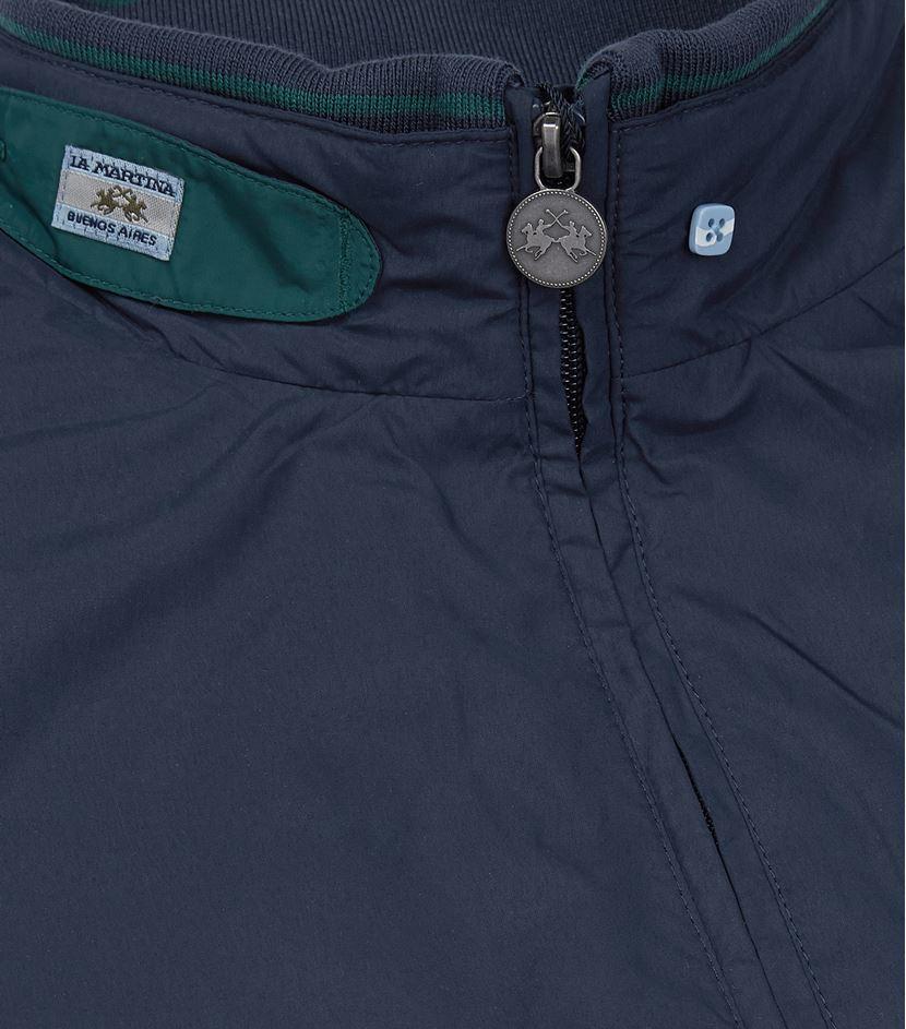 La Martina Synthetic Microfibre Bomber Jacket in Blue for Men