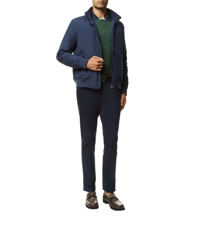 La Martina Synthetic Microfibre Bomber Jacket in Blue for Men