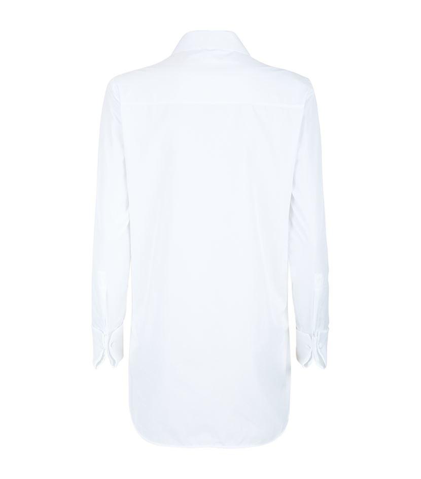Alexander mcqueen slim button down shirt in white lyst for Slim button down shirt