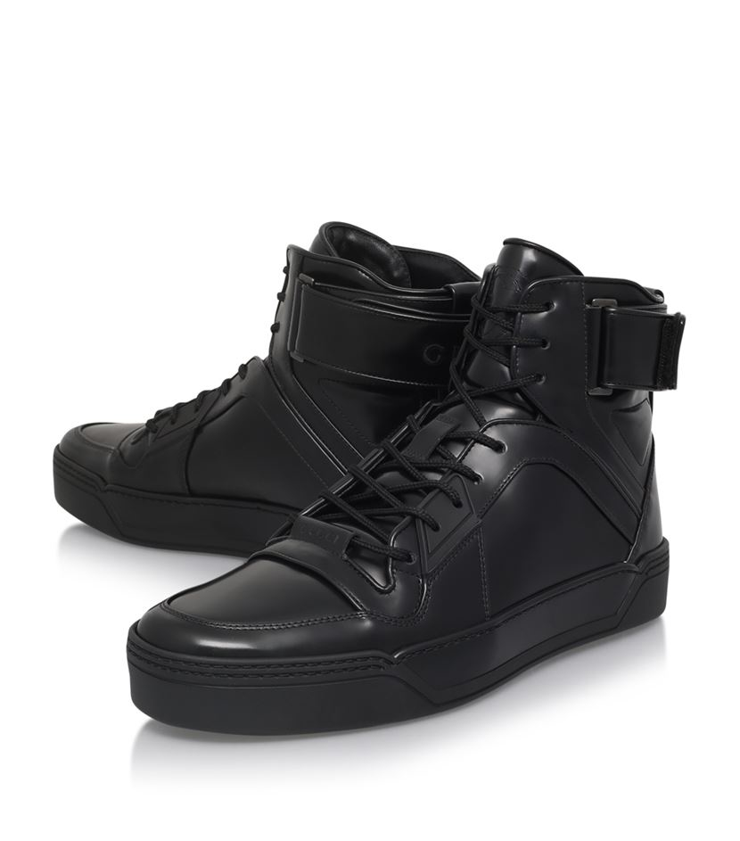 Gucci Basketball Strap High Tops In Black For Men Lyst