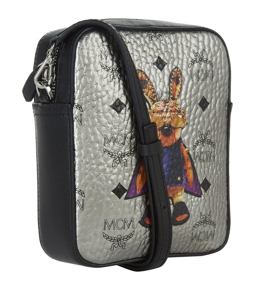 MCM Canvas Rabbit Mini Box Cross Body Bag