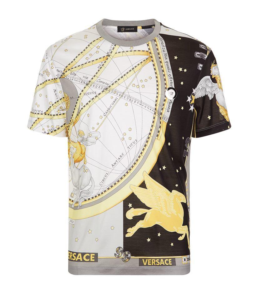 6860ec07 Versace Horoscope Print T-shirt for Men - Lyst