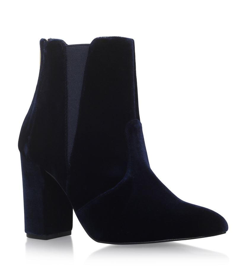 Carvela Kurt Geiger Denim Gorki Pointed Toe Ankle Boots in Blue