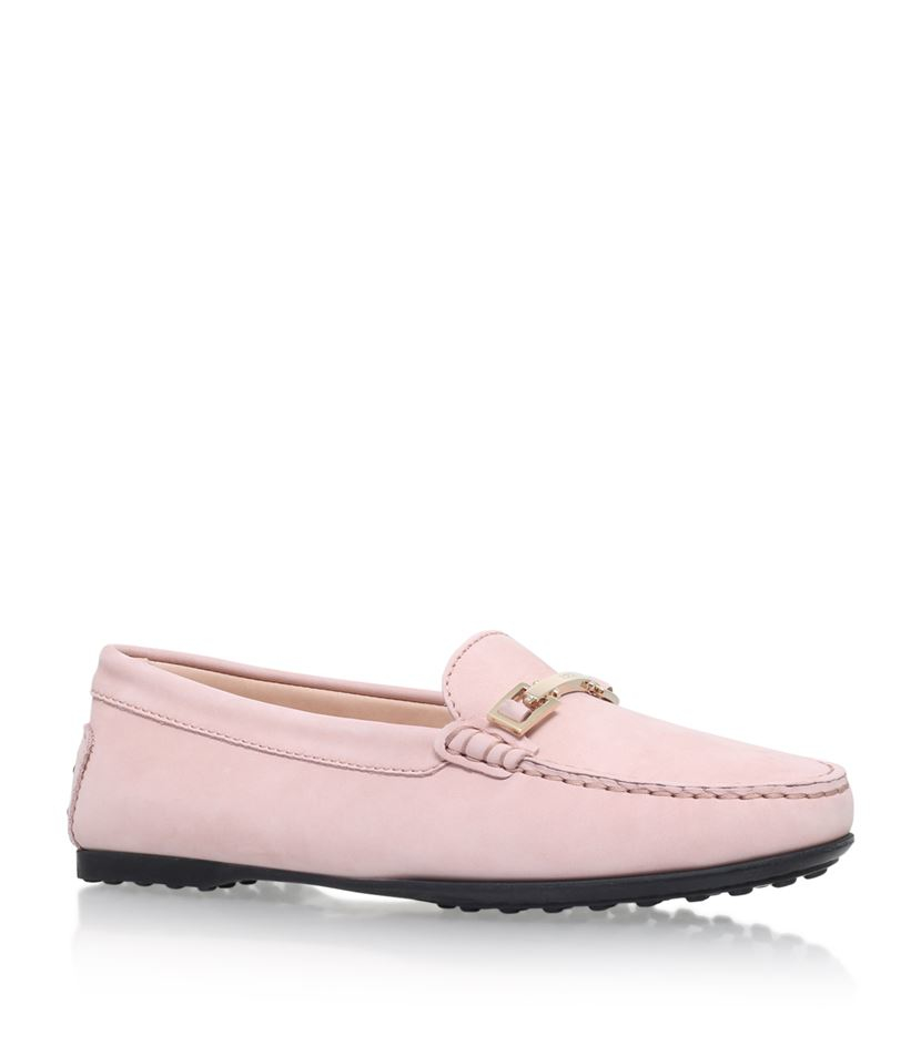 Tods Gomma Clamp Suede Driving Shoe