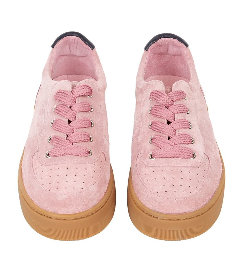 Sandro Suede Camille Sneakers in Pink