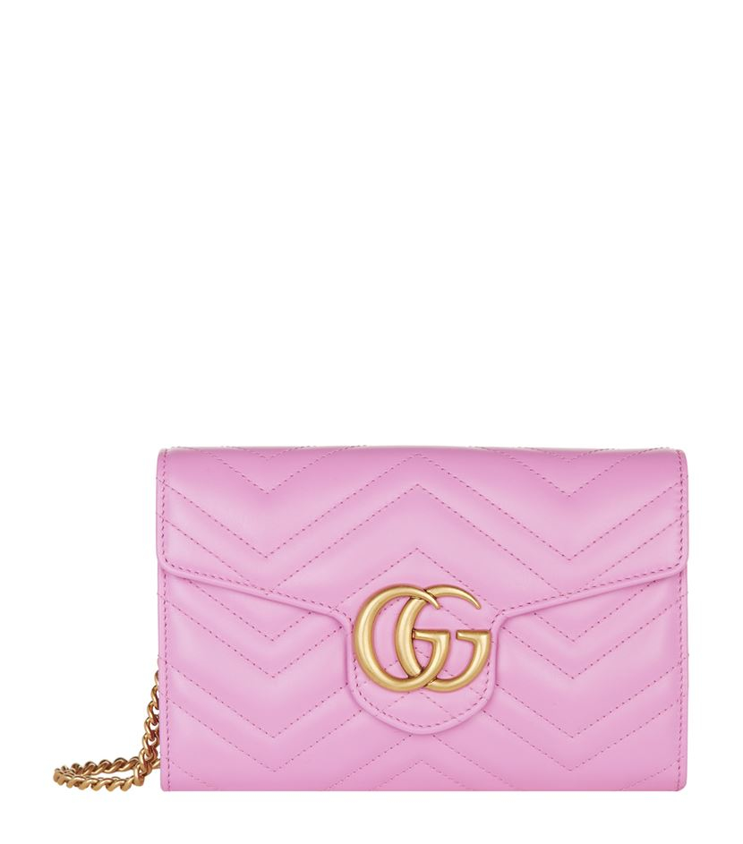 2a129d6cfdc6ca Gucci Marmont Wallet On Chain Pink | Stanford Center for Opportunity ...