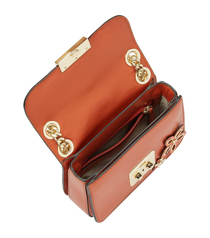 MICHAEL Michael Kors Leather Small Sloan Flowers Chain Crossbody Bag