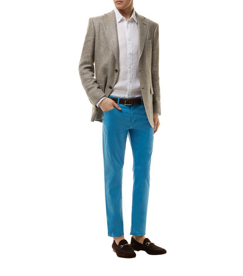 Zilli Denim Alligator Skin Badge Jeans in Blue for Men