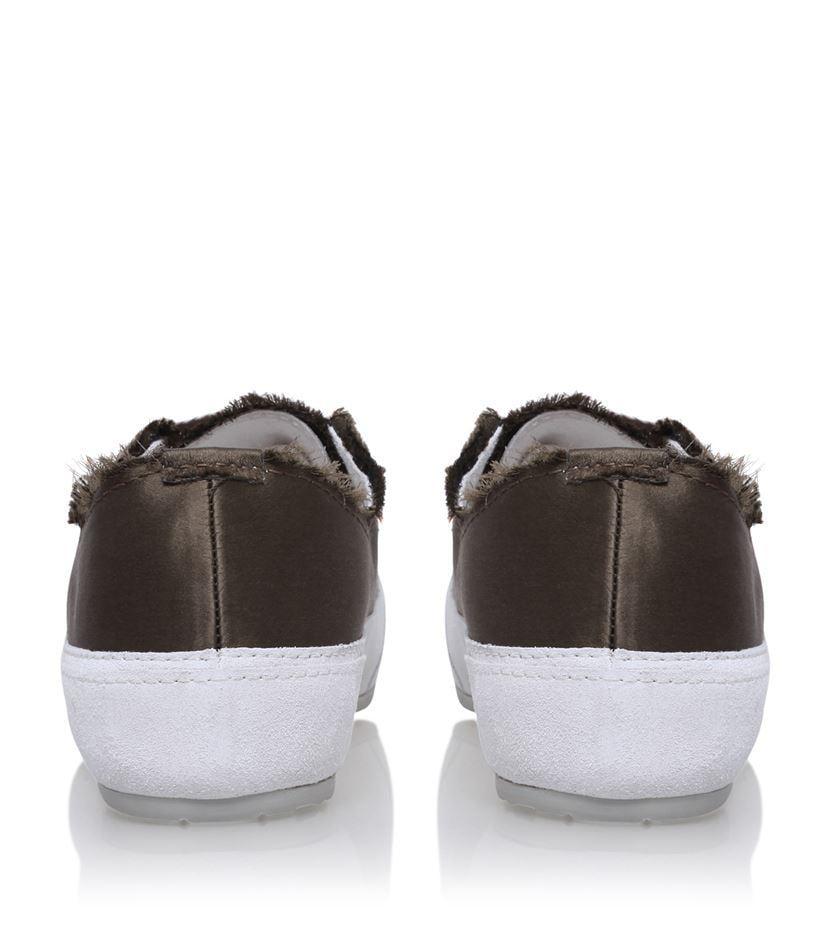 Pedro Garcia Silk Parson Sneakers in Brown