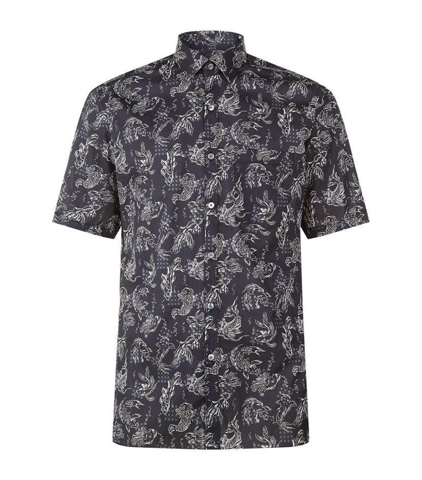 Lyst Lanvin Fish Print T Shirt In Black For Men