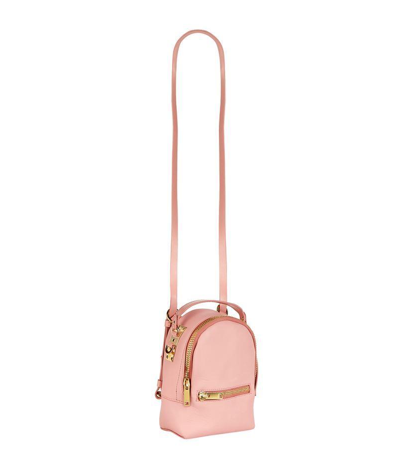 Sophie Hulme Leather Nano Wilson Backpack