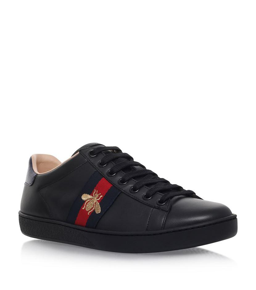 Gucci Ace Bee Sneakers In Blue Lyst