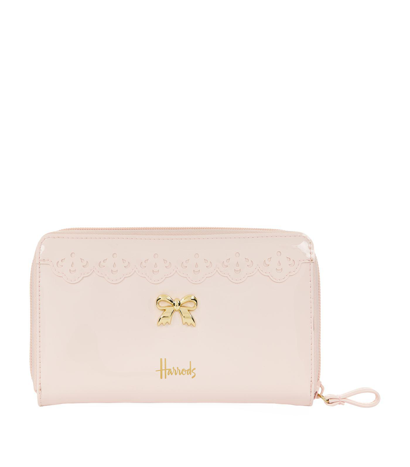 b3e3f07600 Harrods Vintage Lace Zip Around Wallet in Pink - Lyst