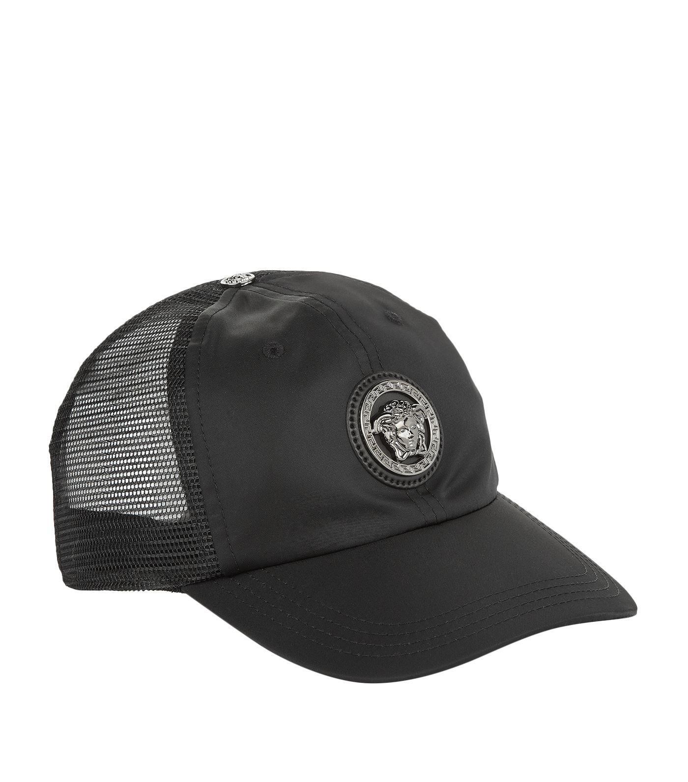 Lyst - Versace Medusa Logo Baseball Cap in Black for Men 739cf9f1de46