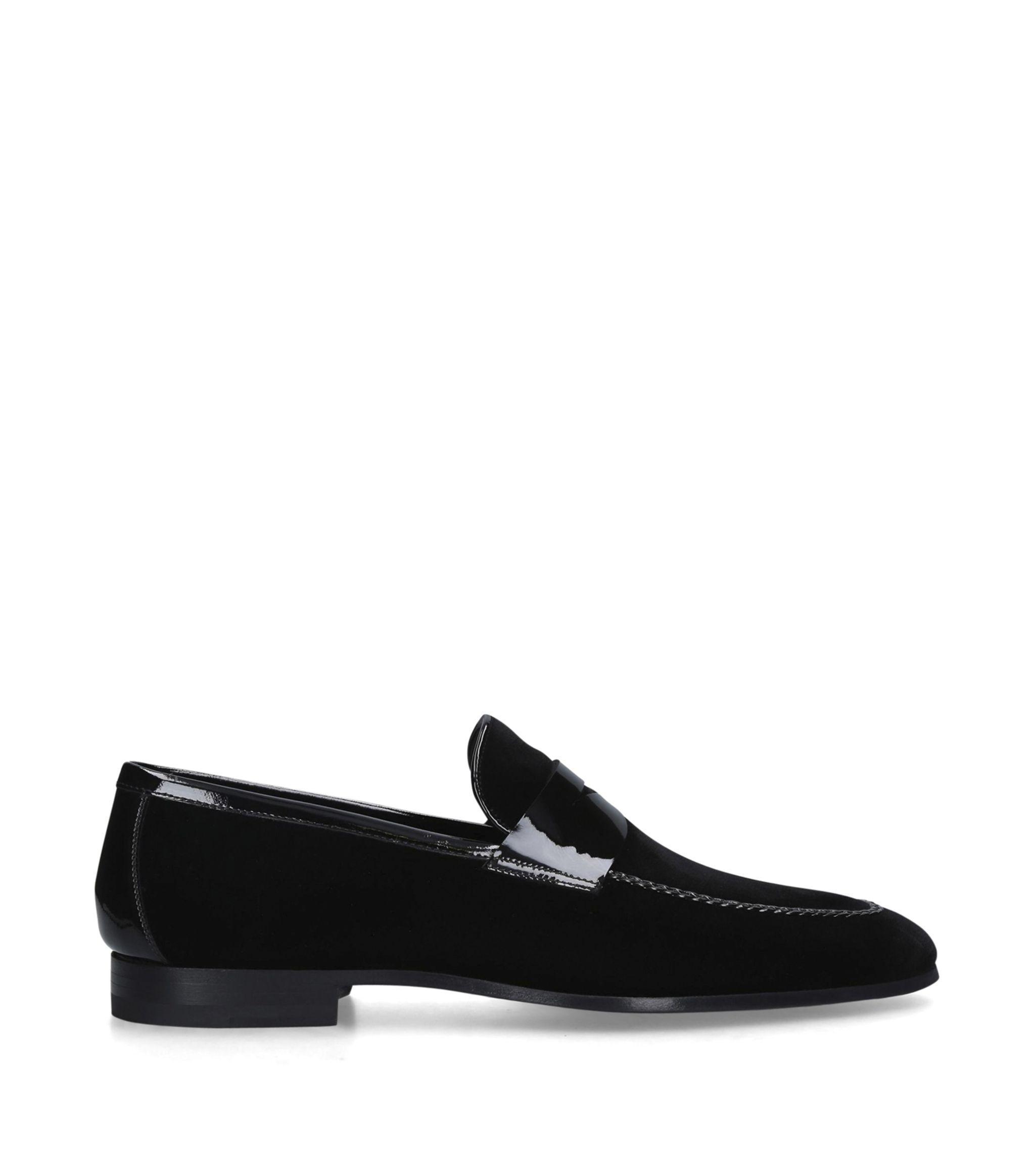 Magnanni Penny Velvet Loafers in Black for Men - Lyst