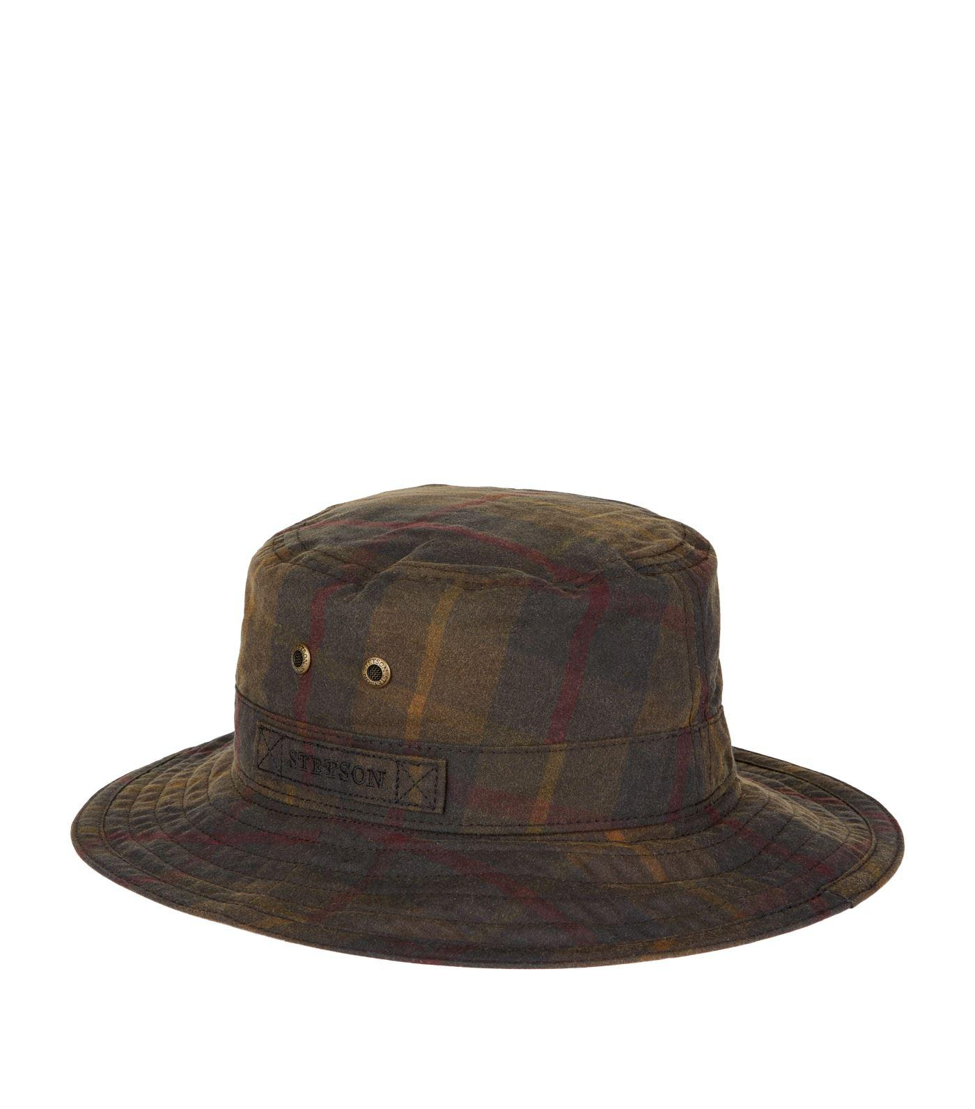 d365e19b5750bc Stetson Atkins Waxed Cotton Bucket Hat in Green for Men - Lyst