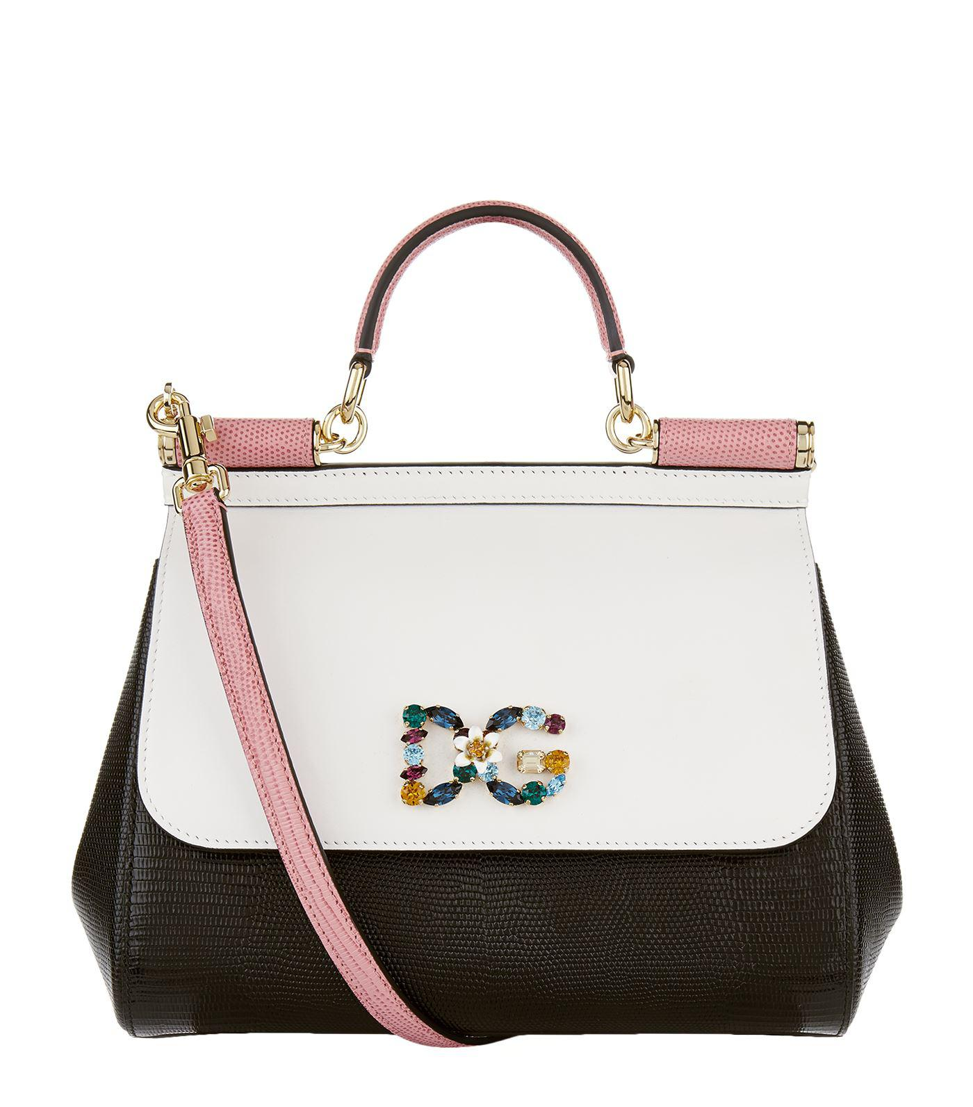 Lyst - Dolce   Gabbana Medium Sicily Top Handle Bag in White - Save ... 245d7abfdc