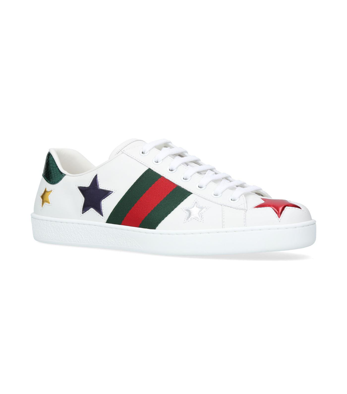 3204cc588 Lyst - Gucci Ace Star Low-top Sneakers
