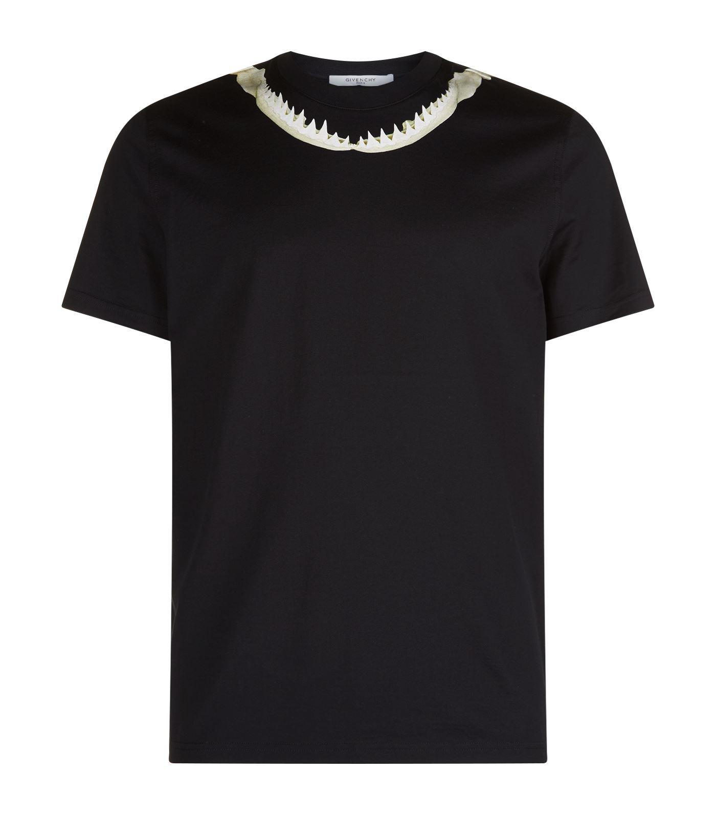 Lyst givenchy shark jaw t shirt in black for men for Givenchy t shirt man