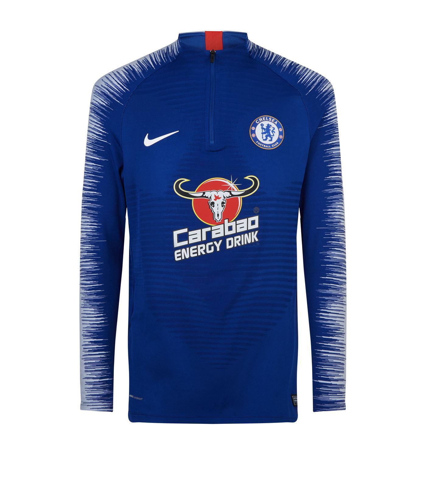 3c0a17f44 Nike Chelsea Football Club Zip Top in Blue for Men - Lyst