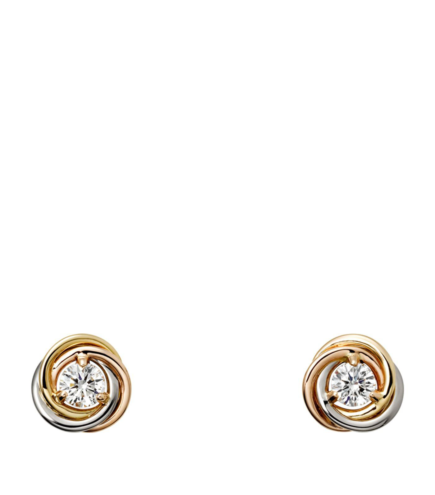en gold product cartier trinity timelesspriceless number by ref earrings de
