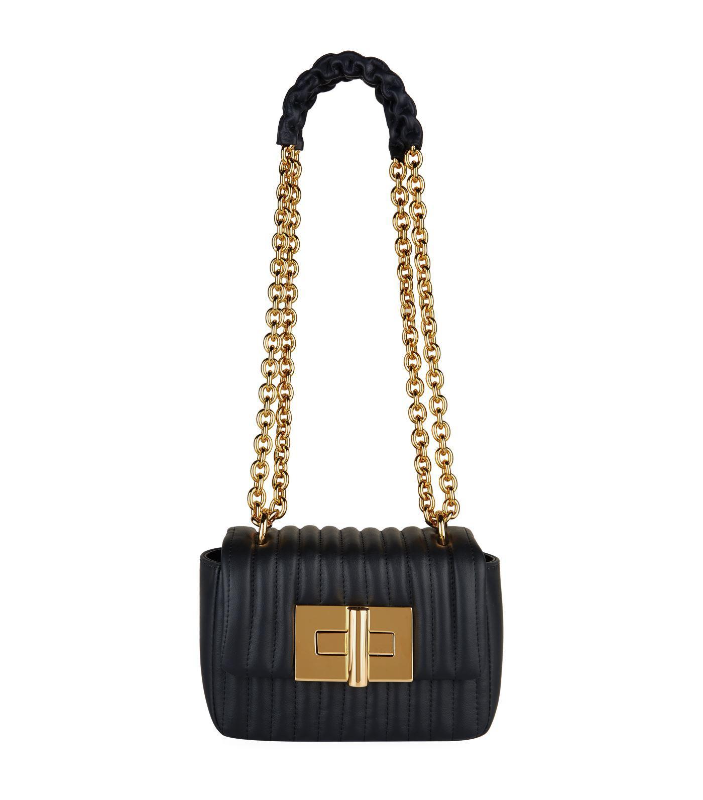 315826059b608 Lyst - Tom Ford Mini Leather Soft Natalia Shoulder Bag in Black