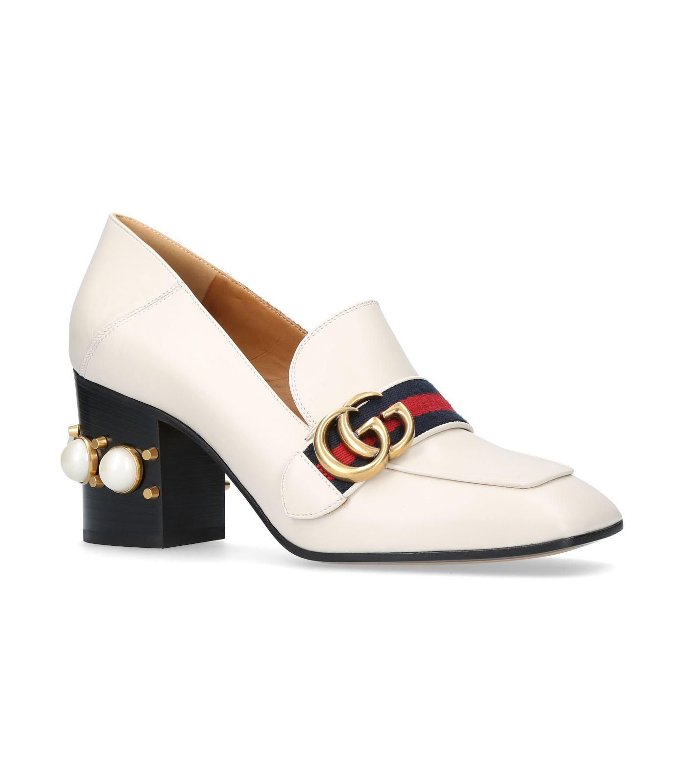 Gucci Leather Peyton Pearl Pumps 75 in
