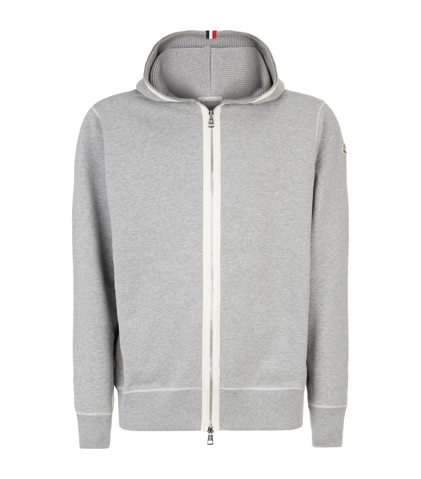7c40ebb78 Moncler Contrast Panel Hoodie in Gray for Men - Lyst