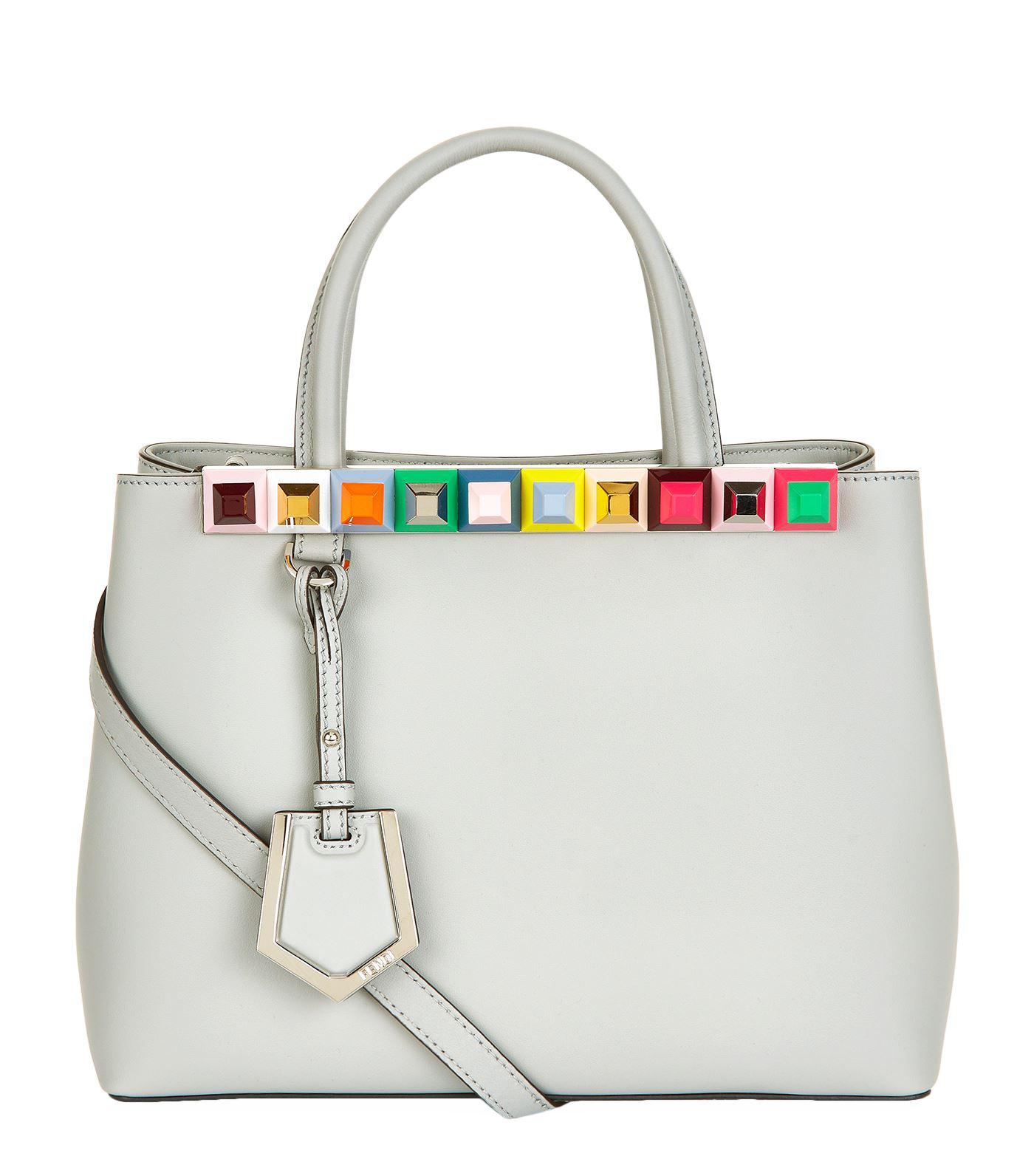 80f66de5668b Lyst - Fendi 2jours Studded Shopper Tote Bag